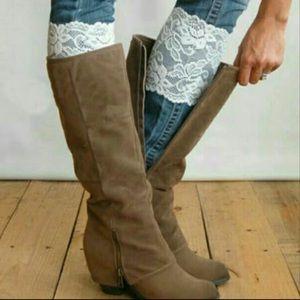 White Lace Boot Cuff